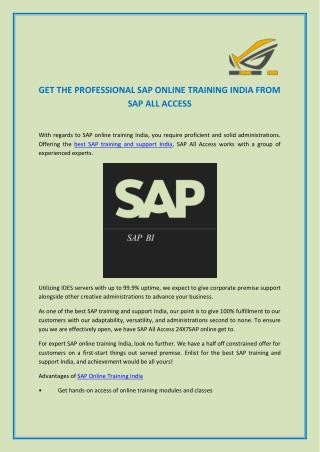 SAP Online Training India | SAP Support India|SAPallaccess.com