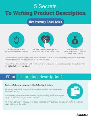 5 Secrets To Writing Product Description