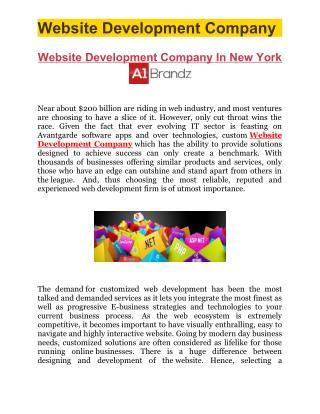 Website Development Company In New York