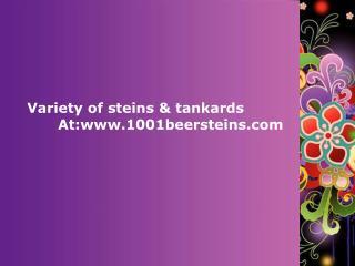 Variety of steins & tankards