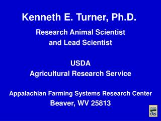 Kenneth E. Turner, Ph.D.