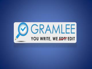 Gramlee.com: APA Editors Provide Copy Editing, Grammar Check, and Proofreading Services Just in 24 Hours!