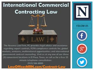 International Commercial Contracting Law
