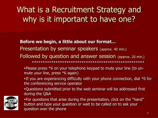 What is a Recruitment Strategy and why is it important to have one