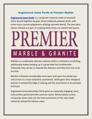 Engineered stone Perth at Premier Marble