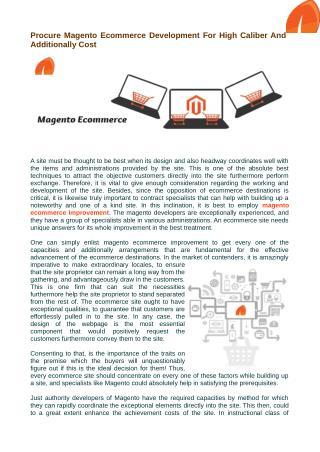 Who enroll magento ecommerce development