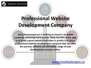 Website Development Company Canada