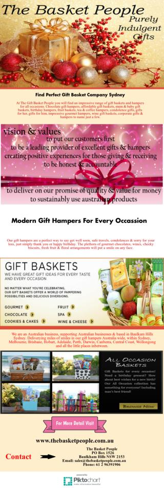 Select One of Our Superior Quality Gift Baskets Online Australia