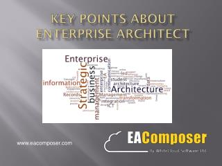 Key Points Associated with Enterprise Architect