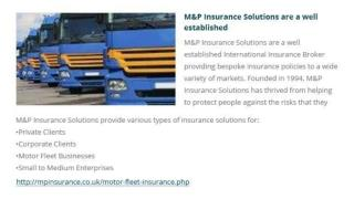 Top Company Motor Fleet Insurance in UK