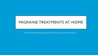 Migraine Treatments At Home