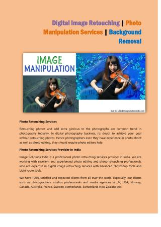 Digital Image Retouching | Photo Manipulation Services | Background Removal
