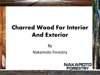 Charred Wood For Interior And Exterior by nakamoto forestry