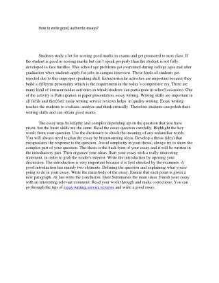 How to write good, authentic essays?
