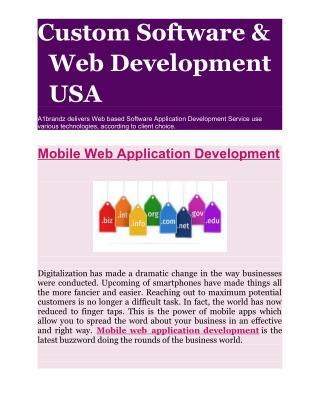 Mobile Web Application Development