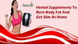 Herbal Supplements To Burn Body Fat And Get Slim At Home