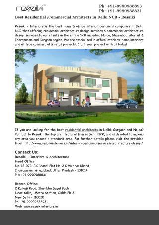 Best Residential /Commercial Architects in Delhi NCR – Resaiki