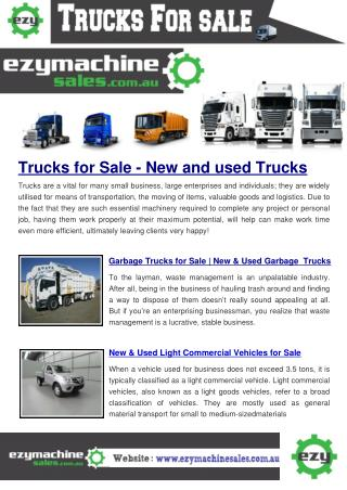 Buy/Sell New and Used dealers Trucks Online on Australia