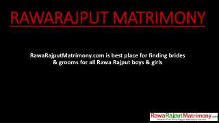 Rawa Rajput Matrimony | Online Matrimonial for Rawa Rajput community