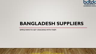 Bangladesh suppliers