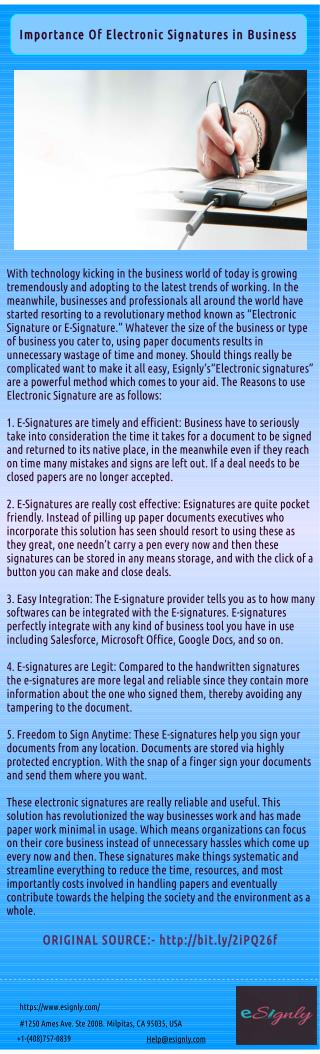 Why e-Signatures Are To Be Used in Business?