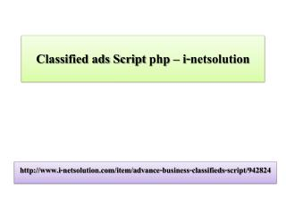 Classified ads Script php – i-netsolution