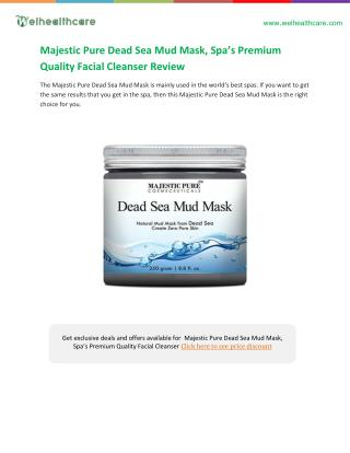 Majestic pure dead sea mud mask buying guide