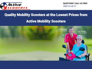 Quality Mobility Scooters at the Lowest Prices from Active Mobility Scooters
