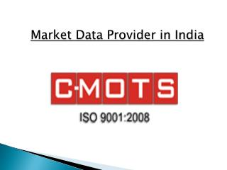 Leading Market Data Provider in India