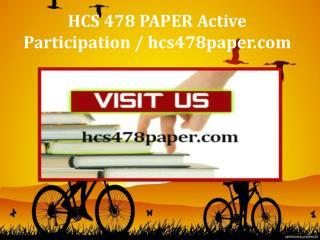 HCS 478 PAPER Active Participation / hcs478paper.com