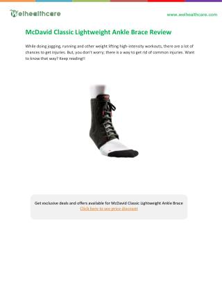 mcdavid lightweight ankle brace buying guide