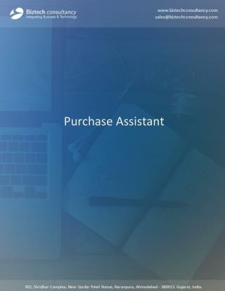 Purchasing Assistant Microsoft Dynamics CRM Plugin