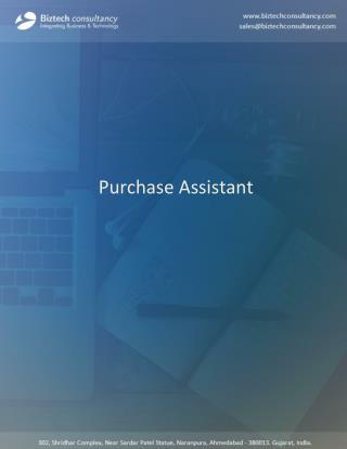 Purchasing Assistant Microsoft Dynamics CRM Plugin