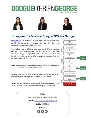 Infringements Process- Doogue O'Brien George