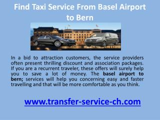 Find taxi service from basel airport to bern