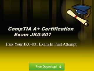 Free JK0-801 PDF Dumps