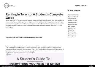 Renting in Toronto: A Student's Complete Guide