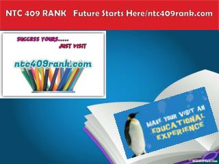NTC 409 RANK   Future Starts Here/ntc409rank.com