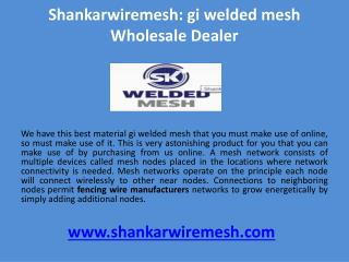 gi welded mesh Wholesale dealer