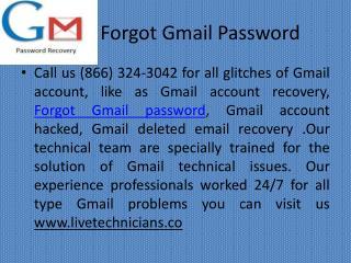Forgot Gmail password | 1 (866) 324-3042