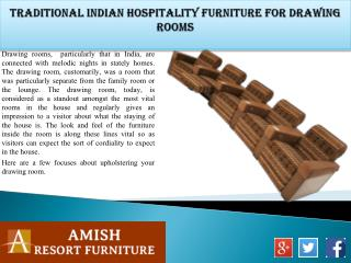 Traditional Indian Hospitality Furniture for Drawing Rooms