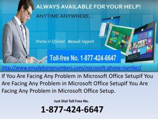 Microsoft Phone Number 1-877-424-6647