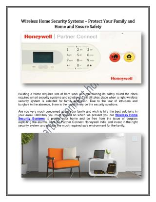 Wireless Home Security Systems – Protect Your Family and Home and Ensure Safety