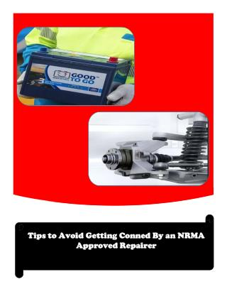 Tips to Avoid Getting Conned By an NRMA Approved Repairer