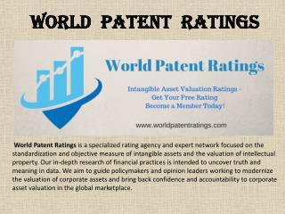 World Patent Ratings