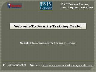 Security Classes in California