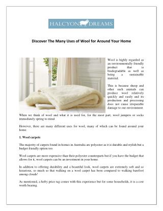 Uses of Wool for Around Your Home