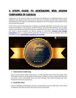 4 Steps Guide to Rewarding Web Design Companies in Canada