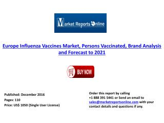Europe Influenza Vaccines Market Forecast  & Analysis to 2021