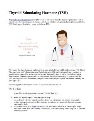 THYROID STIMULATING HORMONE (TSH)